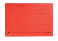 Elba Boston Bright Manilla Document Wallet 320gsm Capacity 32mm Foolscap Red Ref 100090136 [Pack 25]