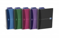 Oxford Office Notebook Poly Wirebound 90gsm Smart Ruled 180pp A5 Assorted Colour Ref 100101300 [Pack 5]