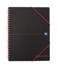 Black n Red Meeting Bk Poly Wbnd 90gsm Ruled Margin Perf Punched 4 Holes 160pp A4+ Ref 100104323 [Pack 5]