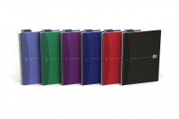 Oxford Office Essentials A4 Assorted Soft Cover Wirebound Notebooks (Pack of 5) 100105331