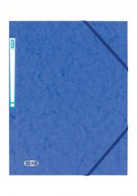 Elba Eurofolio Folder Elasticated 3-Flap 450gsm A4 Blue Ref 100200978 [Pack 10]