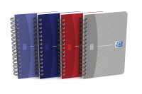 Oxford Office Notebook Wirebound Soft Cover 90gsm Ruled 180pp A6 Assorted Colour Ref 400005630 [Pack 10]