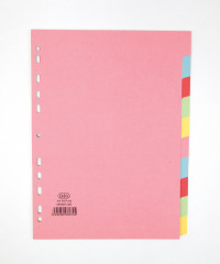 Elba A4 10 Part Assorted Card Divider 100080806