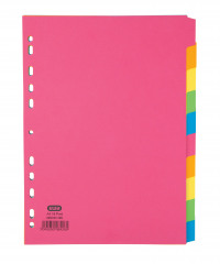 Elba 10-Part Manilla Bright Dividers A4 Assorted 400008300