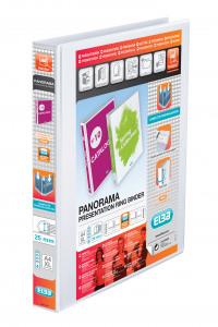 Elba Panorama White A4 Plus 25mm 4 D-Ring Presentation Binder 400008416