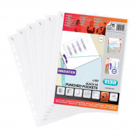 Elba Quick In A4 Punched Pockets Pack of 100 400012939