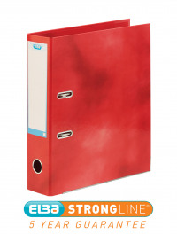 Elba Classy 70mm Lever Arch File A4 Red 40002