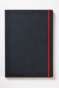 Black n' Red Casebound Hardback Notebook A4 Black 400038675