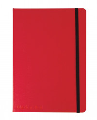 Red By BlackNRed Business Journal Book Hard Cover 90gsm Numbered Pages A5 Ref 400051201