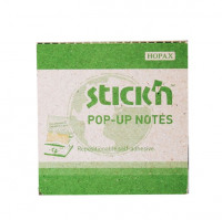 Hopax Recycled Pop-Up Notes 76x76mm GN/Yllw