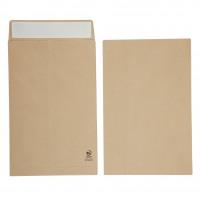 Initiative Envelope 25mm V-Base Gusset Pocketed Plain Peel n Seal 381x254x25 120gsm Manilla Pack 125