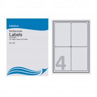 Initiative Multipurpose Labels 99.1 x 139mm 4 Labels Per Sheet Pack 100