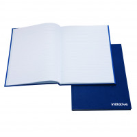 Initiative Manuscript Book Feint Ruled 190 pages A4 70gsm Blue