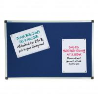 Initiative Noticeboard 1200 x 900mm (4 x 3) Aluminium Frame Blue