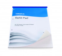 Initiative Refill Pad A4 70gsm Feint Ruled and Margin Punched 4 Hole 160 pages