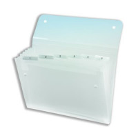 Rexel Ice Expanding Files Durable Polypropylene With Tabs 6 Pockets A4 Clear