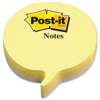 Post-it Speech Bubble Notes Pad of 225 Sheets Yellow and Grey