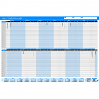 Initiative 2019 7 Day Staff Planner Umounted 915mm x 610mm
