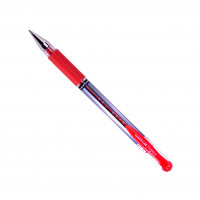 Uni-ball UM151S SigNo Gel Grip Rollerball 0.7mm Tip 0.5mm Line Red Ref 751107000 [Pack 12]
