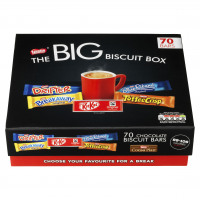 Nestle Big Chocolate Box Five Assorted Biscuit Bars Ref 12391006 [Pack 71]
