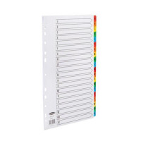 Concord Commercial Dividers Europunched 20-Part A-Z Coloured Tabs A4 White Ref 09401