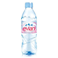 Evian Natural Mineral Water Bottle Plastic 500ml Ref 01210 [Pack 24]
