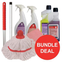 Washroom Cleaning Bundle with Mop/Cloths/Cleaning Fluids [Bundle Offer]