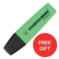 Stabilo Boss Highlighters Chisel Tip Green Ref 70/33/10 [Pack 10] [FREE Highlighters] Jul-Sep 2017