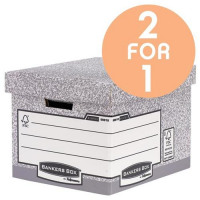 Fellowes Bankers Box Heavy Duty Standard Storage Box Ref 0081801 [Pack 10] [2 For 1] Jul 2017