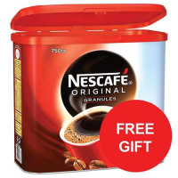 Nescafe Original Instant Coffee Granules Tin 750g Ref 12283921 [x2 & FREE Sweets] Jul-Sep 2017