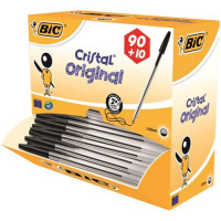 Bic Cristal Ball Pen 0.4mm Line Black Ref 896040 [Pack 90 plus 10 FREE] [FREE Chocolates] Oct-Dec 2017