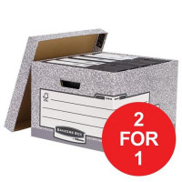 Bankers Box by Fellowes System Large Storage Box Ref 01810-FF [Pack 10] [2 For 1] Jan-Mar 2018