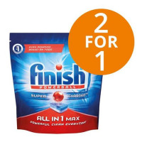 Finish Dishwasher Powerball Tablets All-in-1 Ref 3041411 [Pack 53] [2 For 1] Mar-Jun 2018