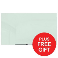 Nobo Diamond Glass Board Magnetic Scratch Resistant White Ref 1905177 [FREE Desktop Pad] Apr-Jul 2018