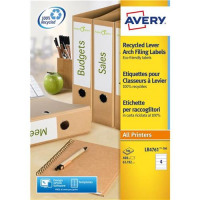 Avery Filing Label Recycled 4 Per Sheet 192x61mm Ref LR4761-100 [400 Labels] [FREE Pen Pot] Apr-Jun 2018
