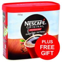 Nescafe Original Instant Coffee Granules Tin 750g Ref 12283921 [FREE Biscuits] Apr-Jun 2018