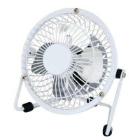 5 Star Facilities Desk Fan 4 Inch With Tilt USB 2.0 Interface White