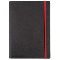 Black By Black n Red Business Journal Book Soft Cover 90gsm Numbered Pages A5 Ref 400051204
