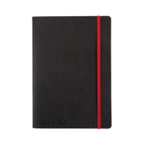 Black By Black n Red Business Journal Book Soft Cover 90gsm Numbered Pages A6 Ref 400051205