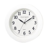 Wall Clock Plastic 12 Hour Dial White