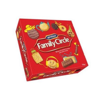 Crawfords Family Circle Biscuits Re-sealable Box 10 Varieties 720g Assorted Ref 0401018
