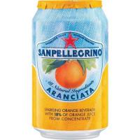 San Pellegrino Sparkling Fruit Beverage 330ml Can Orange Citrus Flavour Ref 12166832 [Pack 24]