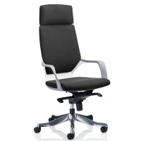 Adroit Executive Chair Static Arms Flat Packed Fabric Black