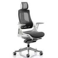 Adroit Executive Chair Height-adjustable Arms Flat Packed Mesh Charcoal