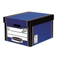 Bankers Box Premium Storage Box Classic FSC Blue and White [Pack 12] [12 for 10] Ref 7250603 [Promo]