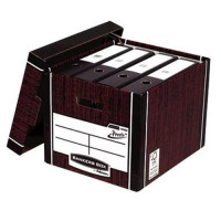Bankers Box Premium Storage Box Tall FSC Woodgrain Ref 7260503 [Pack 12] [12 for 10] [Promo]