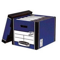 Bankers Box Premium Storage Box Tall FSC Blue and White Ref 7260603 [Pack 12] [12 for 10] [Promo]