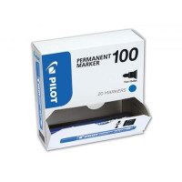 Pilot 100 Permanent Marker Bullet Tip Line 1mm Blue Ref 3131910501275 [Pack 15&5 Free]