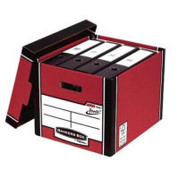 Bankers Box Premium Storage Box Tall FSC Red and White Ref 7260703 [Pack 12] [12 for 10] [Promo]