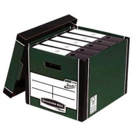 Bankers Box Premium Storage Box Tall FSC Green and White Ref 7260803 [Pack 12] [12 for 10] [Promo]